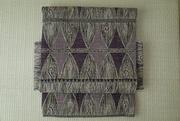 芭蕉を織り込んだ帯 紫