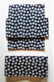 花の総刺繍の二部式帯・紺