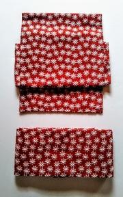 花の総刺繍の二部式帯・赤
