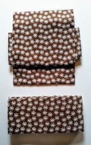 花の総刺繍の二部式帯・茶