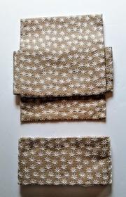 花の総刺繍の二部式帯・ベージュ