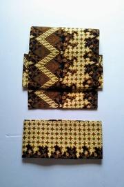 インドネシアの更紗 幾何と花