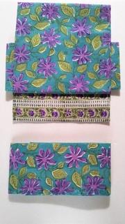 インドのプリント・紫の花